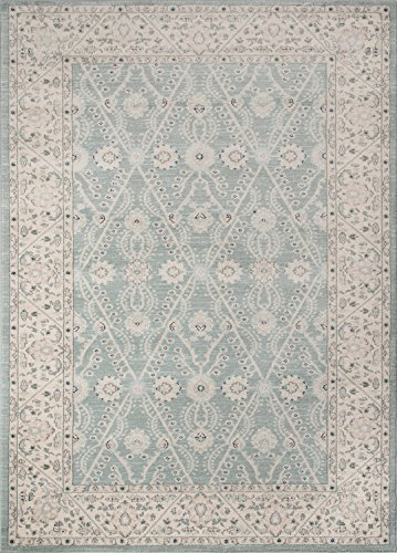 Momeni Rugs ZIEGLZE-08BLU2030 Ziegler Collection, Traditional Area Rug, 2' x 3', (Chobi Collection)