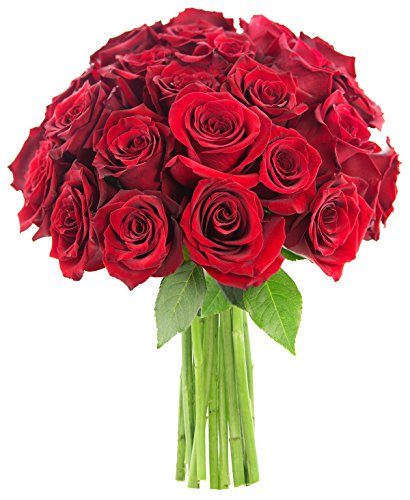 Valentine's Farm Fresh Bouquet of 25 Romantic Red Roses - KaBloom's Natural-State Collection by KaBloom