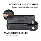 Genuine Leather Smoking Tobacco Pipe Pouch Case Bag for 2 Pipes Tamper Filter Tool Cleaner Preserve Freshness