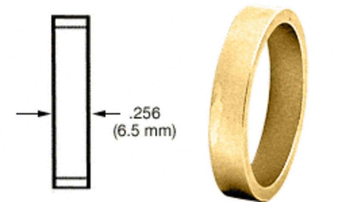 CRL Polished Brass .256' Straight Cylinder Ring