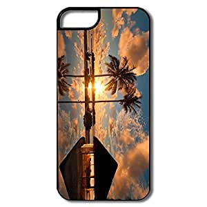 Cool Interior Scratch Protection Sunset Resort IPhone 5/5s Case For Birthday Gift