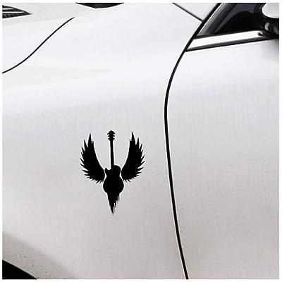 (5p)11.4CM * 15.1CM Adesivo per auto in vinile con ali in metallo Hard Rock per chitarra e musica divertente: Bricolaje y herramientas