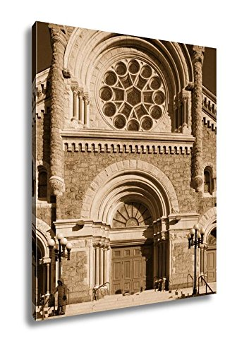 Ashley Canvas St Francis Xavier Catholic Church In Philadelphia USA, Kitchen Bedroom Living Room Art, Sepia 30x24, AG6490108 by Ashley Canvas