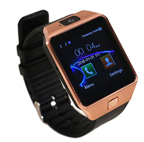 aipker smartwatch phone with camera sim tf card slot bluetooth compatible android smart phones. Black Bedroom Furniture Sets. Home Design Ideas