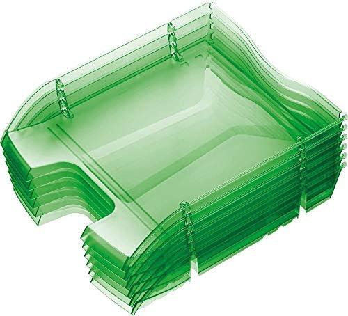 Briefablage/Dokumentenablage,the green deck' A4-C4 6er-Set von HELIT nestbar Schreibtischablage Formularablage Briefkorb Ablagenkorb Ablagenbox