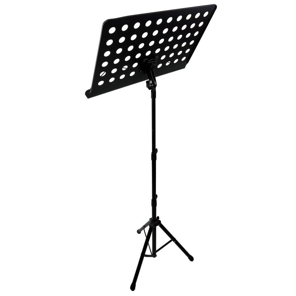 RockJam G905 Height & Angle Adjustable Orchestral Conductor Sheet Stand, Matte Black by RockJam