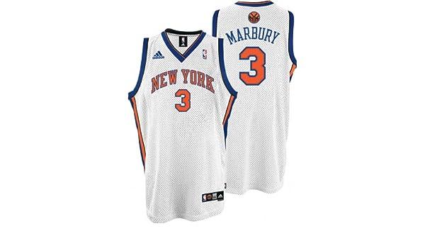Amazon.com   Stephon Marbury Jersey  adidas White Swingman  3 New York  Knicks Jersey   Athletic Jerseys   Sports   Outdoors d8cbf79aa
