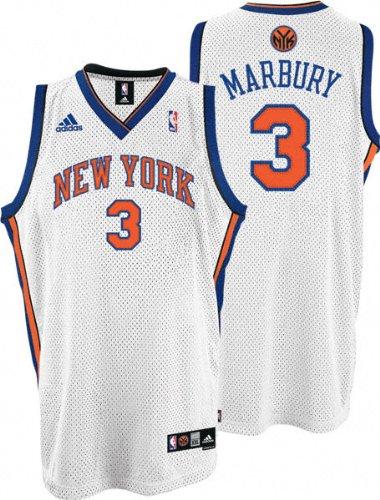 90536717c1cf ... Stephon Marbury Jersey adidas White Swingman 3 New York Knicks Jersey  ...