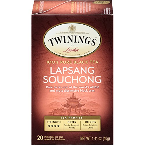 Twinings Black Tea, Lapsang Souchong, 20 Count Bagged Tea, 1.41 oz, (6 Pack)