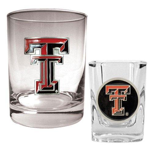 NCAA Texas Tech Red Raiders Rocks Glass & Shot Glass Set