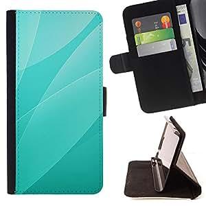 BullDog Case - FOR/Samsung Galaxy Core Prime / - / Green Leaves Pattern /- Monedero de cuero de la PU Llevar cubierta de la caja con el ID Credit Card Slots Flip funda de cuer
