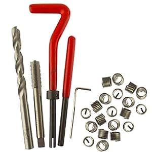 Amazon.com: M8 x 1.25mm Thread Tap Repair Cutter kit helicoil 15pc set