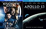Ender's Game & Apollo 13 Sci-Fi Blu Ray Space Thriller Action Space Movie Set