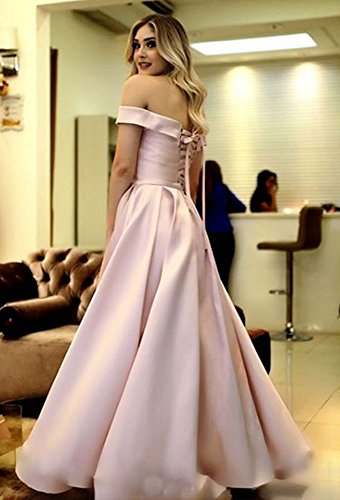 Off A Satin Long Shoulder Gowns Dress Prom Bridesmaid Evening Line Formal Dressylady Grape 5wxpSIqS