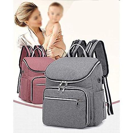 Depory Pa/ñal Bolso Mochila Impermeable Bolsa de Pa/ñales con Aislado Bolsillos para Cuidado de Beb/é y Mam/á Gran Capacidad Mochila de Pa/ñales Bolso de Viaje