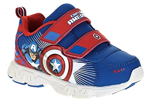 BBC International Marvel Avengers Toddler Boys Lightweight Super Soldier Athletic Shoe, Royal/Red (8) -