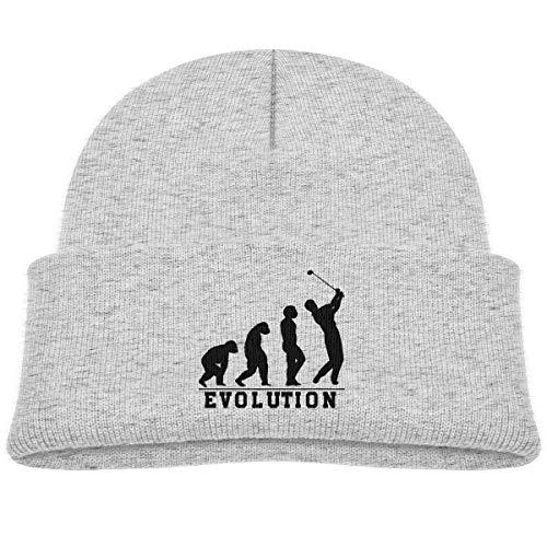 Kids Knitted Beanies Hat Golf Evolution Winter Hat Knitted Skull Cap for Boys Girls Gray ()