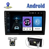 Android Car Radio 9 Inch Touch Screen GPS Sat Navi Stereo Player AMprime 2 Din Bluetooth WiFi FM Receiver Mobile Phone Mirror Link Dual USB + Backup Camera
