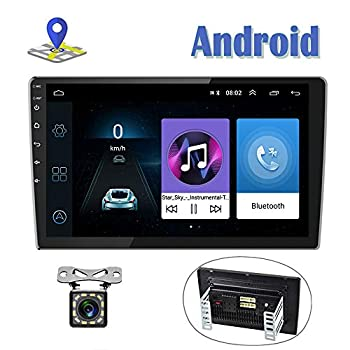 Image of Android Car Radio 9 Inch Touch Screen GPS Sat Navi Stereo Player AMprime 2 Din Bluetooth WiFi FM Receiver Mobile Phone Mirror Link Dual USB + Backup Camera In-Dash Navigation