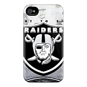Scratch Protection Cell-phone Hard Cover For Apple Iphone 4/4s (KhY2595DEEY) Support Personal Customs Beautiful Oakland Raiders Image