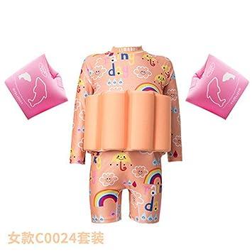 Amazon.com: Cntqiang - Traje flotador desmontable para niña ...