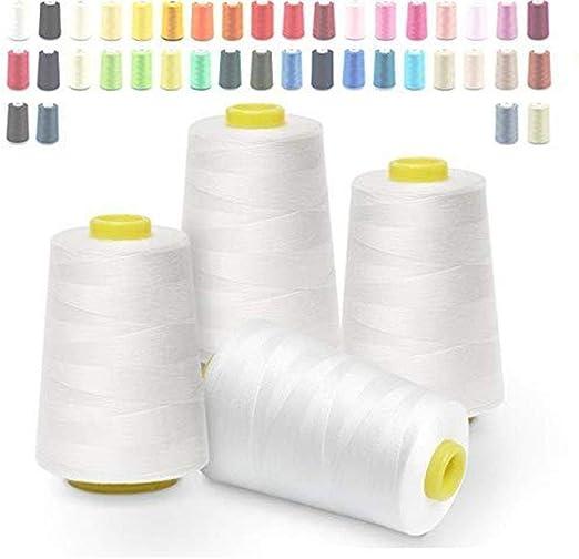 Hilo de coser blanco para máquina de coser/coser a mano, hilo ...