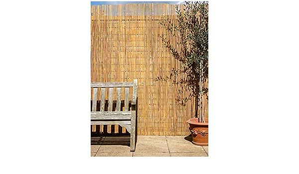 Primrose London - Mampara de tiras de bambú para jardín (4 x 1 m)