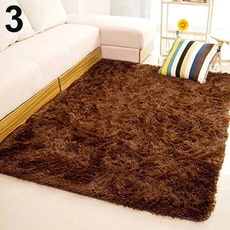perlo33ER Superweiche Moderne Shag Teppiche Wohnzimmer Schlafzimmer Home Anti-Rutsch-weiche Shaggy Fluffy Teppich Teppichbodenmatte deroction for home Rose