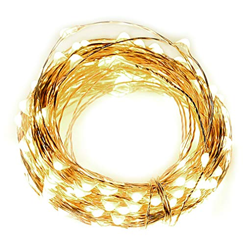 Christmas Decoration 66ft 200 Bright LED String Lights, with Wireless RF Remote Control, Christmas Light Waterproof Decorative RF Lights for Bedroom Party Patio Dancing Wedding (Warm White) -