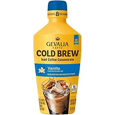Gevalia Cold Brew Vanilla Iced Coffee Concentrate, 32 Ounce