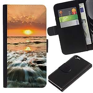 Ihec-Tech / Flip PU Cuero Cover Case para Apple Iphone 6 4.7 - Sunset Sea Beautiful Nature 25