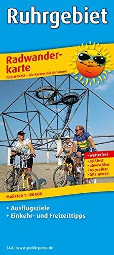Ruhrgebiet: Radwanderkarte mit Ausflugszielen, Einkehr- & Freizeittipps, wetterfest, reissfest, abwischbar, GPS-genau. 1:100000 (Radkarte / RK)
