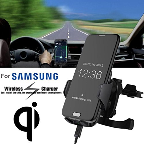 - Gotd Qi Wireless Fast Charger Car Stand Dashboard Air Vent Mount For Samsung Galaxy Note 8/S8 (2017) /S7 / Galaxy S6 Edge (Black)