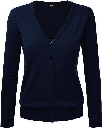 Oferta amazon: Cardigan básico con cierre de botones, para mujer Talla 34(ES)=Medium