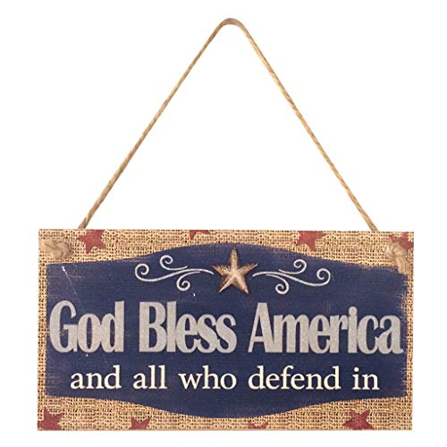 iBOXO (2011cm Decorative Plaques Independence Day Wooden Plaque Sign Wood Plank Design Hanging Sign