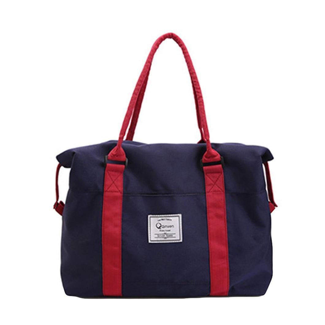 d903d25b8560 Amazon.com: lotus.flower Fashion Solid Color Oxford Travel Bag Large ...