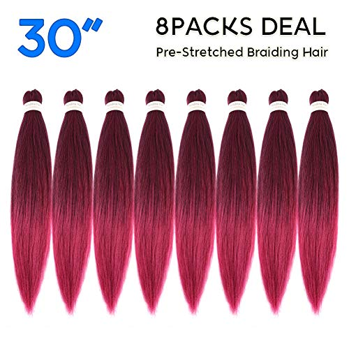 Synthetic Hair Braiding - Pre-Stretched Braiding Hair Omber 30