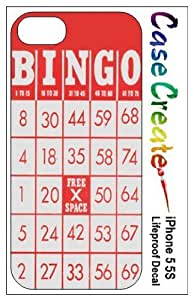 New Style Bingo Card Decorative Sticker Decal for your iPhone 5 5S Lifeproof Case