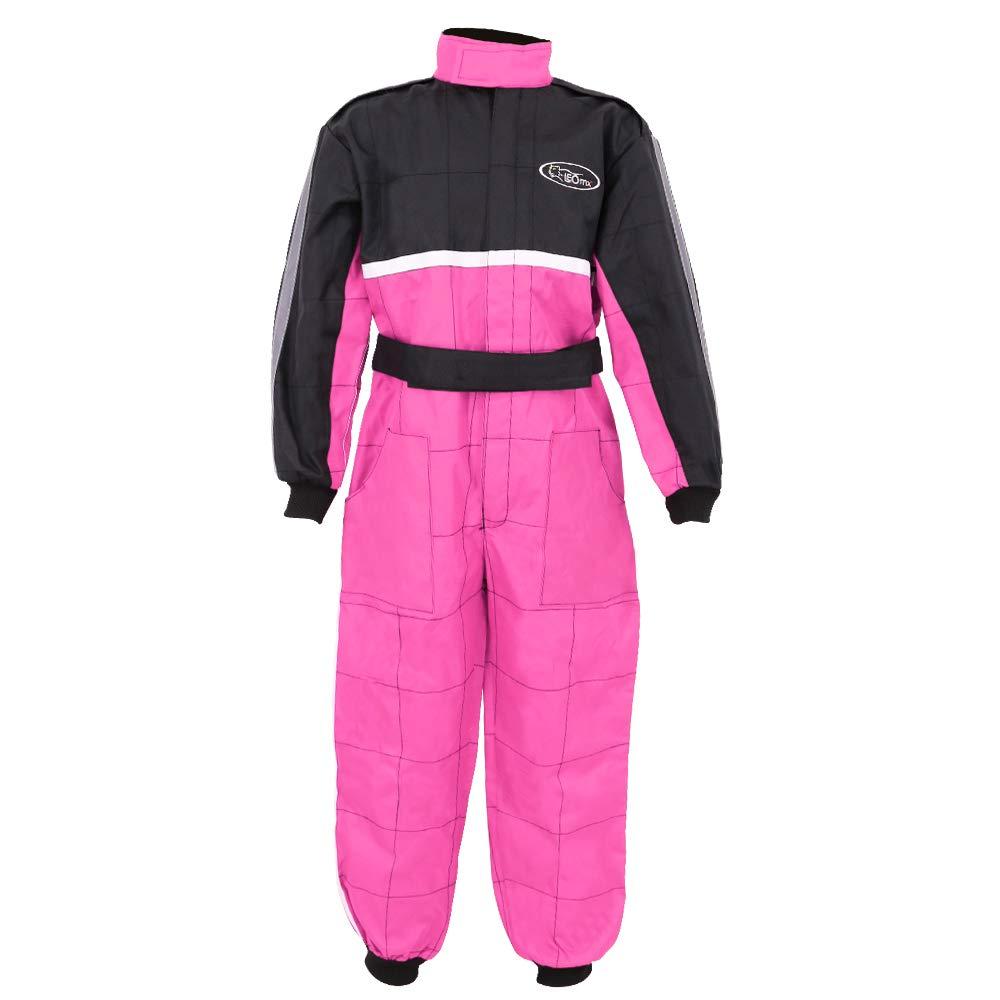 ATV Dirt Quad Bike Karting Overall Clothing Red M Leopard CUB Kids Children Motorbike Motocross 1PC Suit 7-8 Years