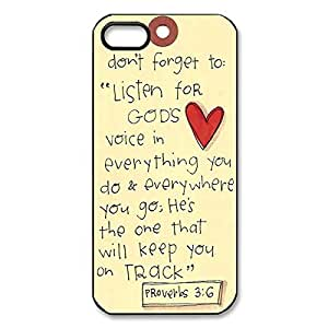 Cool Bible Verse Case for iphone 5 Back Protector -Black20722 by mcsharks
