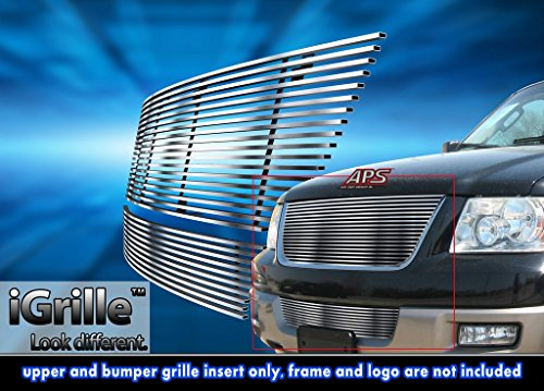 304 Stainless Steel Billet Grille Combo Fits 03-06 Ford Expedition
