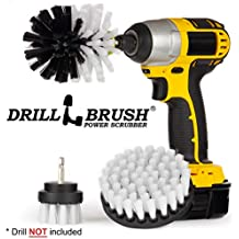 Drillbrush 3 Piece Drill Brush Cleaning Tool Attachment Kit for Scrubbing/Cleaning Tile, Grout, Shower, Bathtub, and All Other General Purpose Scrubbing (Automotive Soft-White)