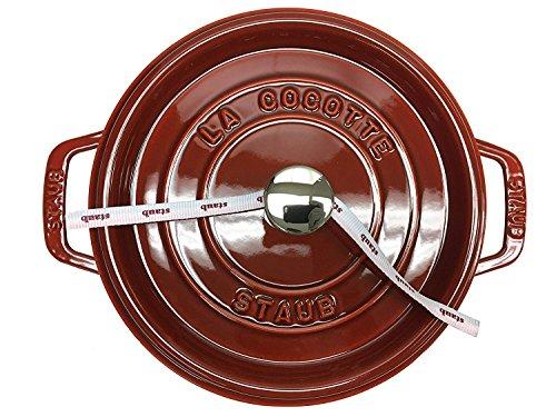 Staub 41102473 Round Cocotte Oven, 4 quart, Brick Red by Staub