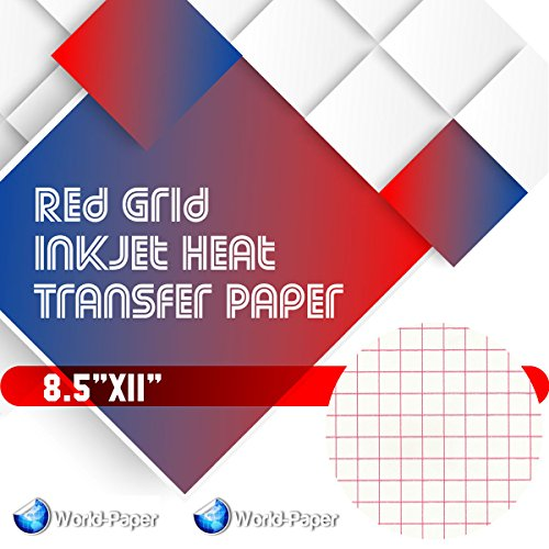Red Grid - Inkjet Heat Transfer Paper 8.5