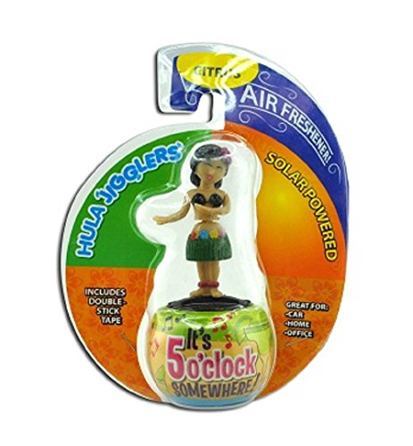 All-in-One Dancing Hula Girl Solar Jiggler w/Air Freshener - One Item w/Random Color and