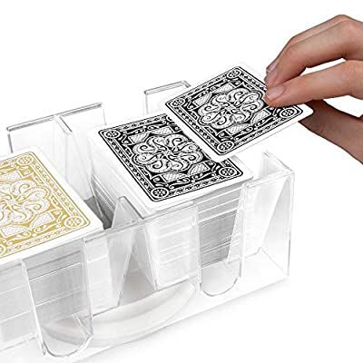 Brybelly 6 Deck Rotating-Revolving Card Tray : Card Games : Sports & Outdoors