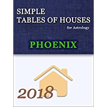 Simple Tables of Houses for Astrology Phoenix 2018