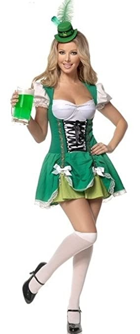 señoras Aimerfeel irlandés traje de criada cerveza del traje del tamaño 40-42