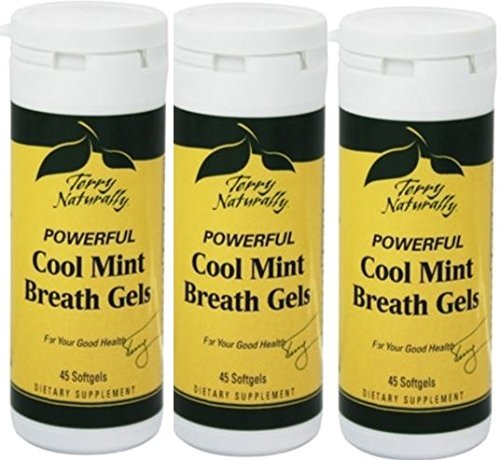 (EuroPharma/Terry Naturally Cool Mint Breath Gel - 45 Count - 3 Pack)