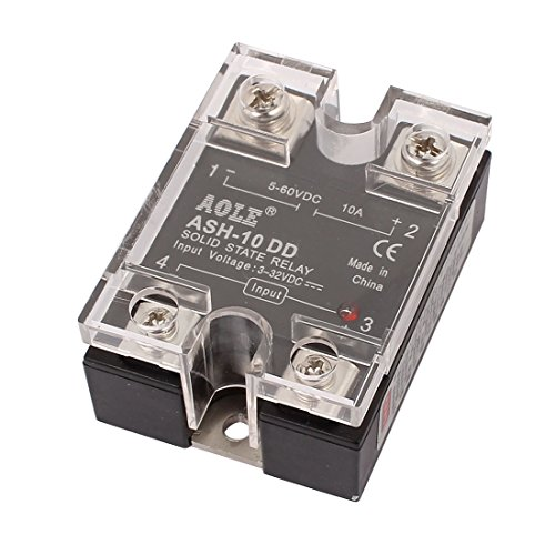 uxcell ASH-10DD 3-32VDC to 5-60VDC 10A Single Phase Solid State DC-DC Relay Authorized
